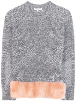 Opening Ceremony Faux Fur-trimmed Sweater