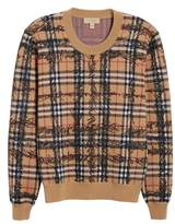 Burberry Kern 48 Scribble Check Merino Wool Sweater