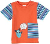 Zutano Dog Talk Big Pocket Tee (Baby) - Mandarin-6 Months