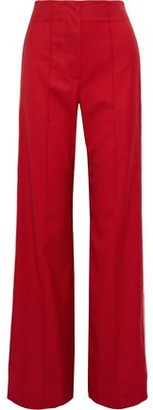 Jonathan Simkhai Snap-detailed Wool-blend Twill Wide-leg Pants