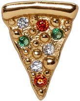 Marc Jacobs Gold Single Pizza Stud Earring