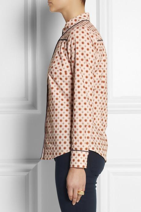 J.Crew Foulard-print cotton-poplin shirt