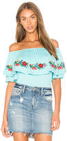 VAVA by Joy Han Keely Top in Blue. - size L (also in M,S,XS)