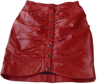 Paul & Joe Red Leather Skirt for Women