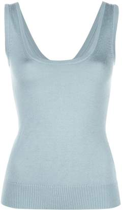 Sally LaPointe sleeveless knitted top