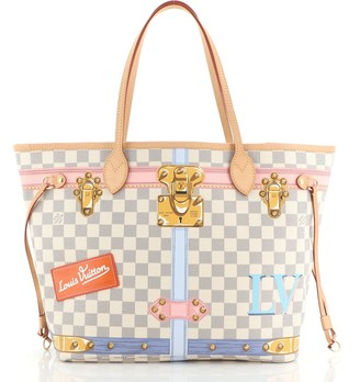 Louis Vuitton Neverfull NM Tote Limited Edition Damier Summer Trunks MM
