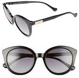 Women's Sonix Holland 50Mm Gradient Round Sunglasses - Black Fade/ Black