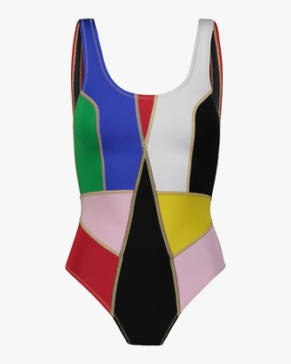 Cynthia Rowley Palmer Color Block One-Piece Swimsuit