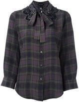 Marc Jacobs embellished collar check shirt