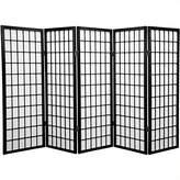 Oriental Furniture 4-Feet Window Pane Japanese Shoji Privacy Screen Room Divider