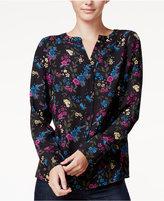 Kensie Floral-Print Blouse