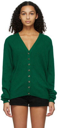 KHAITE Green Amelia Cardigan