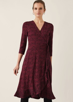 Phase Eight Ebony Ditsy Printed Wrap Dress