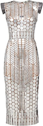 Fendi Mirror-Patch Tube Dress