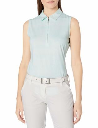 Cutter & Buck Women's Moisture Wicking UPF 50+ Sleeveless Tess Printed Polo Shirt