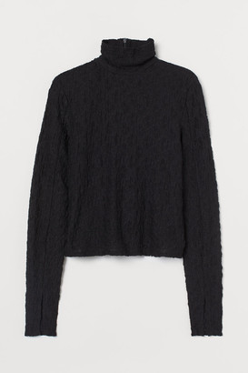 H&M Long-sleeved polo-neck top