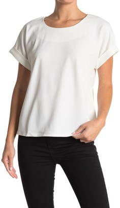 MelloDay Cuffed Short Sleeve Top
