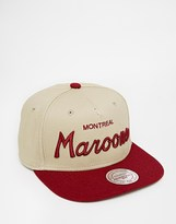 Mitchell & Ness Montreal Maroons Khakis Snapback Cap - Beige