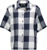 Equipment Guiliana checked cotton-voile shirt