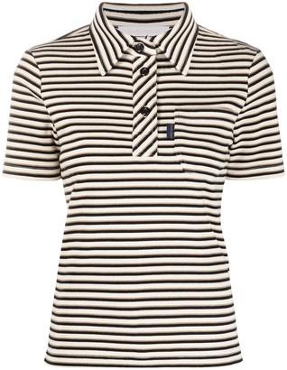See by Chloe Stripe-Print Cotton Polo Shirt