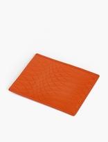 Paul Smith Orange No. 9 Embossed Leather Cardholder