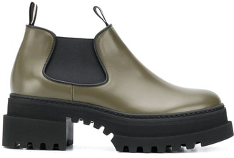 Bally Chunky Sole Ankle Boots