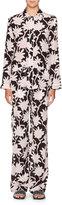 Valentino Rhododendron-Print Crepe de Chine Pajama Top
