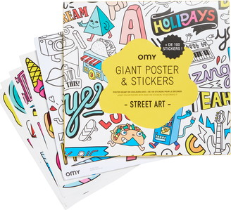 Omy Street Art Giant Coloring Poster & Sticker Set