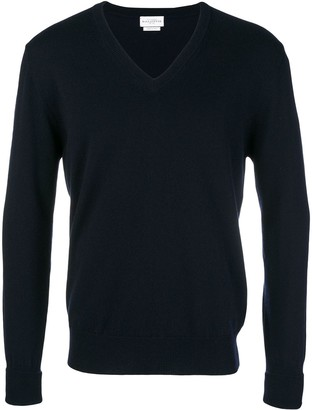 Ballantyne v-neck knitted sweatshirt