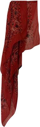 Saint Laurent Red Wool Scarves & pocket squares