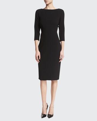 Theory Varetta Admiral Crepe Sheath Dress, Black