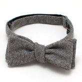 General Knot & Co Grey Heather Herringbone Bow Tie
