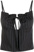 Romeo Gigli Pre Owned 1990s pinstriped bustier top