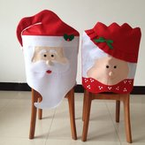Gabkey 1Pcs Wife CHRISTMAS KITCHEN CHAIR COVER FEATURING MR AND MRS SANTA CLAUS -Transform Your Dining Room Chairs And Your Home For The Spirit of Christmas