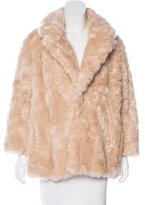 G.V.G.V. Faux Fur Long Sleeve Coat