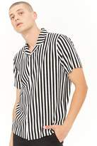 21men 21 MEN Stripe Cuban-Collar Shirt