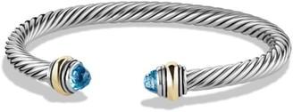 David Yurman Cable Classics Bracelet With Gemstone & 14K Gold