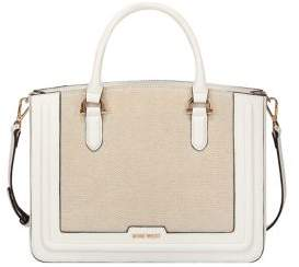 Nine West Harper Jet Set Faux Leather Satchel