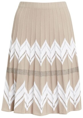 D-Exterior D.Exterior Pleated Knitted Skirt