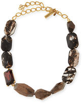 Oscar de la Renta Quartz & Crystal Statement Necklace