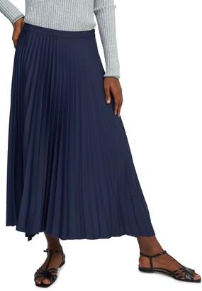 Theory Handkerchief Hem Pleated Skirt