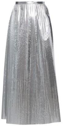Maison Margiela Pleated Metallic Shell Midi Skirt