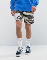 Bershka Jersey Shorts In Camo