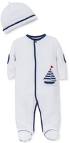 Little Me 2-Pc. Hat & Footed Sailboat Coverall Set, Baby Boys (0-24 months)