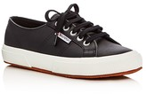 Superga Classic Leather Lace Up Sneakers