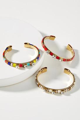SANDY HYUN Chiclet Cuff Bracelet By in White