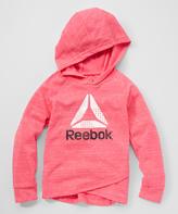 Reebok Pink & White 'Reebok' Hoodie - Girls