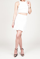 Donna Mizani Mini Flounce Skirt In White
