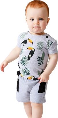 TINY TRIBE Toucan Print T-Shirt