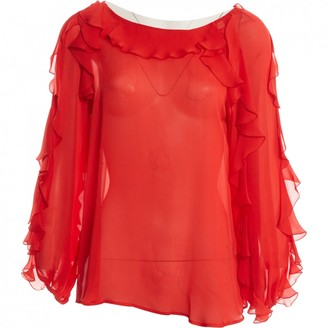 Blumarine Red Silk Top for Women
